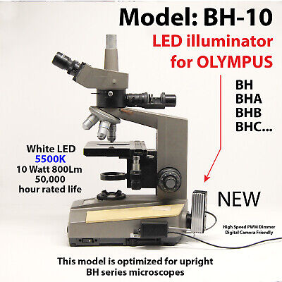 10 watt LED retrofit for Olympus BH series upright microscopes MODEL: BH-10