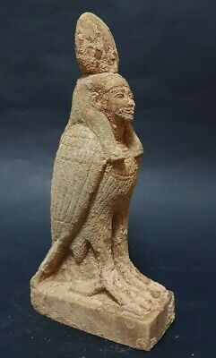 Rare ANCIENT EGYPTIAN ANTIQUES Carved Limestone Statue BA Soul Egyptian Egypt BC