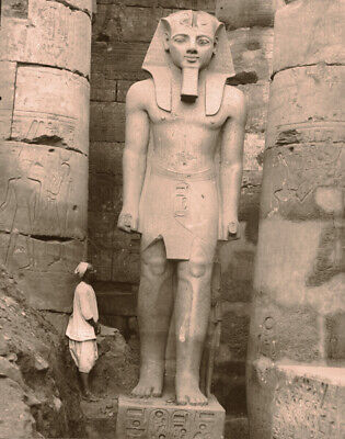 Vintage Early 20th Century Photograph of an Egyptian  Statue