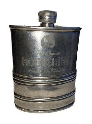 Visol for Original Moonshine 100% Pewter Hip Flask 6oz