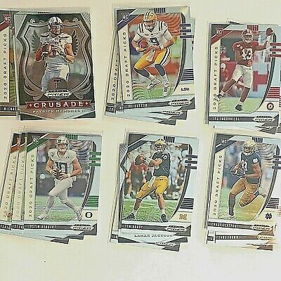 2020 Prizm Draft Picks Collegiate Football Stars & Rookie Cards #1-170 You Pick