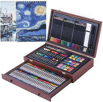 145 Piece Deluxe Art Creativity Set with 2 x 50 Page Drawing Pad, Art Supplies i