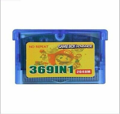 369 In 1 Cartridge Card Multicart for Game Boy Advance GBA SP GBM NDS NDSL