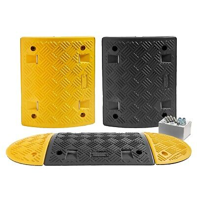 2 M Speed Ramp Kit: 75mm 5 MPH (3 Midsections + 2 End Caps - Fixings Included)