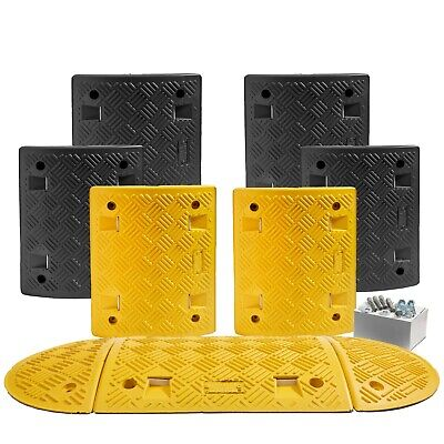 4 M Speed Ramp Kit: 75mm 5 MPH (7 Midsections + 2 End Caps - Fixings Included)