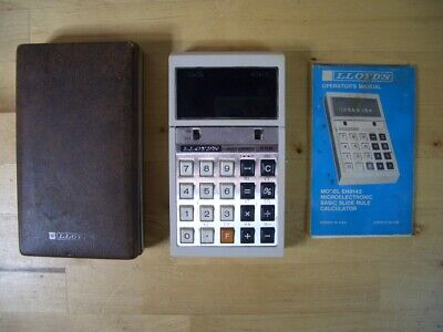 Calculadora LLOYD'S ACCUMATIC 500 pocket calculator Vintage rare