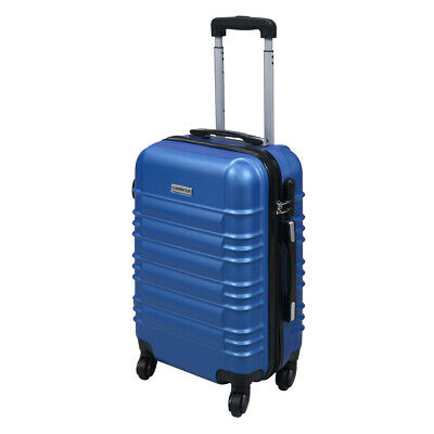 "20"" ABS Carry On Luggage Travel Bag Trolley Suitcase Lightweight w/Lock Blue"