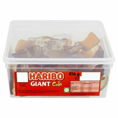 HARIBO Giant Cola - Full Tub 816g - Approx 60 sweets