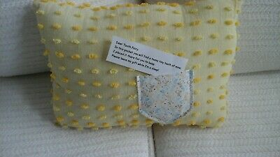 Tooth FAIRY PILLOW FROM VINTAGE CHENILLE HAND MADE