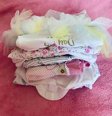 Baby girl Bundle clothes 0-3 months x 12 items dresses, rompers, tops, skirts,