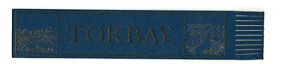 Torbay. Blue Leather English Bookmark.