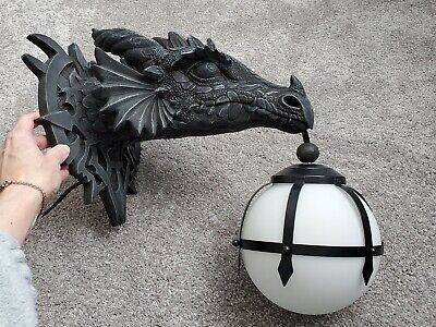 Design Toscano Marshgate Castle Dragon Head Electric Wall Sconce Light Fixture