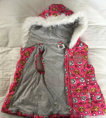 Paw Patrol body Warmer. Girls. 6-7yrs. Gilet. Hooded. EXCELLENT Cond. FREE DEL