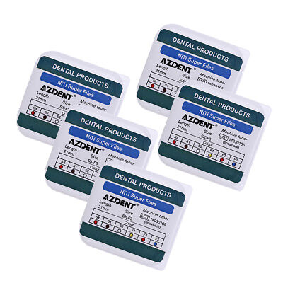 5X Dental Endodontic NiTi Engine Use Super Rotary Files SX-F3 21mm 6pcs/box