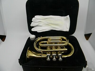 Oxford Pocket Trumpet with Mouthpiece and Case New