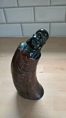 Antique carved buddha horn beautifully made with super detail