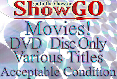 Movies & Shows G-M (DVD) *DISC ONLY* Lots of Various Titles - Read Description