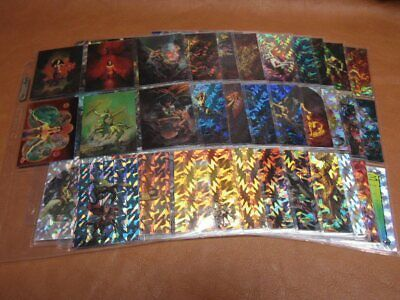 Boris 3 All Prism Collector Trading 72 Card Set + 6 Chromium Chase 1993 & Promo