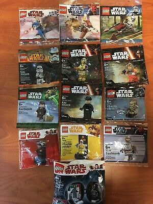 Lot Of 13 LEGO Star Wars Minifigures Polybags 30005/30004/30058/5000063/5005376.