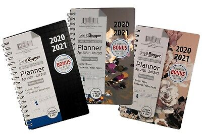 "Plan Ahead See It Bigger 2020 - 2021 Planner 4'' x 6"" ( Choose Pattern )"