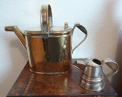 2 Stunning Antique Brass Water Carriers-One Large-Stylish & Usable