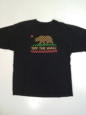 Vans T-shirt Off The Wall Skateboarding California Checkers Size XL