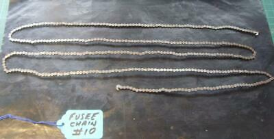 Good Fusee clock movement chain#10  approx 60 inches long