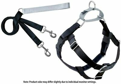 2 Hounds Design PK XXL BK Freedom No-Pull Dog Harness Training Package with Leas