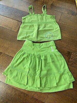 Kenzo Girl Kid Summer Outfit Clothes T-shirt Top+Skirt 2PCS Set Size 10 Years