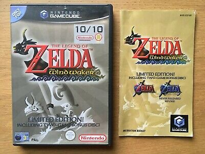 The Legend of Zelda The Wind Waker Nintendo Gamecube Case + Manual Only NO GAME