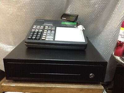 CASIO SE-C300 Electronic Cash Register Compete With Till Rolls And Free P&P