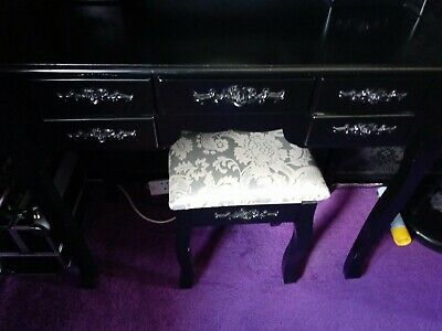 Decoupage Wooden  Tray Gothic Skull Dressing Table Storage Bits And Pieces