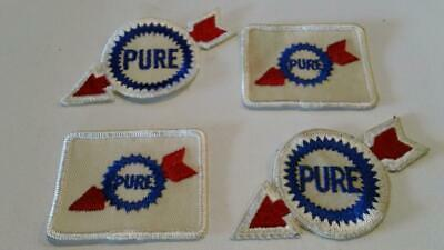 Two Vintage Pure Oil Service Station Patches - Gas & Oil Patch - Free Shipping