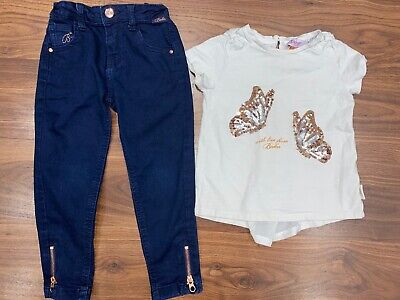 Ted Baker Girls Top And Jeans Set Age 3-4 Years