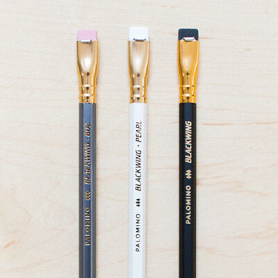 3 Palomino Blackwing Pencil Set: 602, Pearl, Original Drawing Writing Cedar