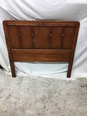 Antique Vintage Arts & Crafts Mission Oak Twin Bed Stickley Era Missing Rails