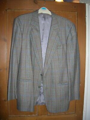 70s 80s Mens Vintage Wool Jacket Cue By Austin Reed 38 Autumn Winter Check 10 99 Picclick Uk