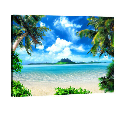 Canvas Wall Art Print Painting Picture Home Decor Sea Beach Landscape Photo
