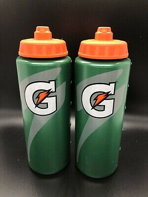 Official GATORADE Squeeze Water Bottle, 20 OZ (2 Pack) **NEW**