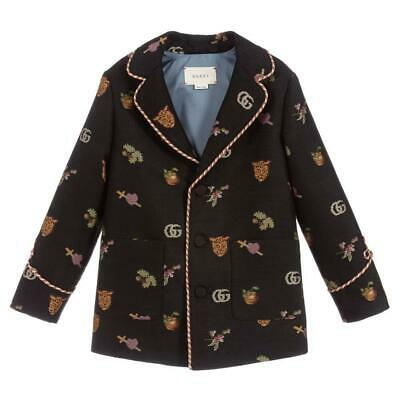 Gucci Kids Boys Embroidered Wool Jacket 5 Years