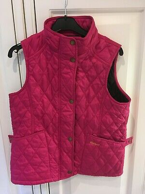 Girls Barbour Body Warmer Gilet Jacket Hot Pink Size 14/15 XXL Great Condition