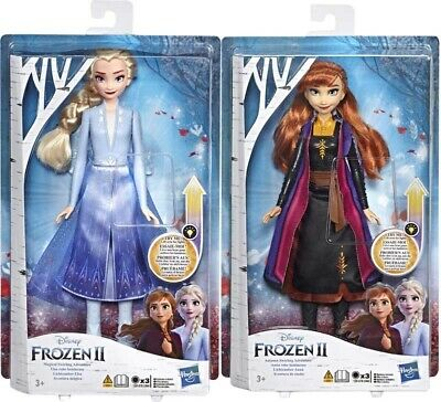 Disney Frozen 2 Light Up Elsa and Anna Fashion Doll BRAND NEW