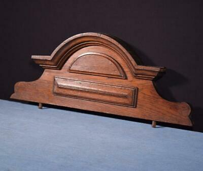 """*21"""" French Antique Pediment/Crest in Oak Wood Salvage Carved"""