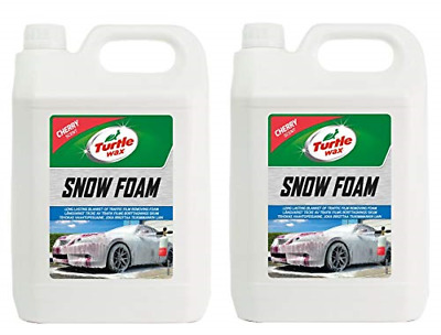 Turtle Wax 53111 Snow Foam PH Neutral Thick Car Shampoo 2 x 5 Litre
