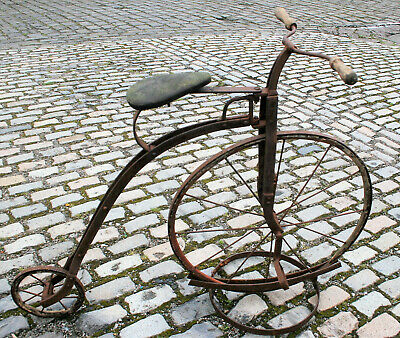 Antique Victorian Penny Farthing Child Bike Bicycle 1880 Original High Wheeler M