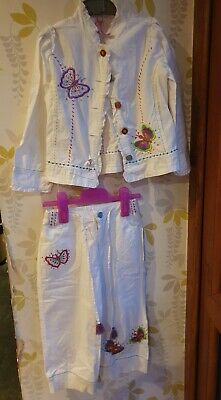 Mim-Pi Girls White Butterfly Outfit, Age 6