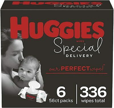 Huggies Special Delivery Hypoallergenic Baby Wipes Unscented 6 Packs 336 Total