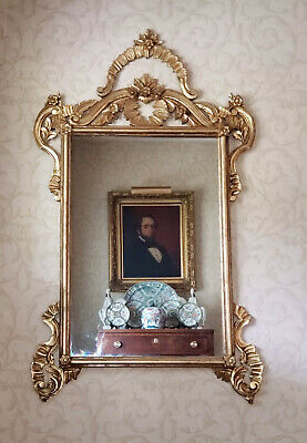 Outstanding Vintage LaBarge Wooden Carved Gold Gilded Mirror