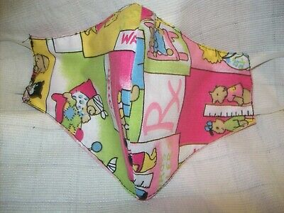 Face Mask Washable, Double Sided, HEALTH CARE WORKERS - PINK ASSORTED  PRINTS- 9