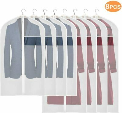 KEEGH Hanging Garment Bag Lightweight Clear Suit Dress Protector Bags (Set of 8)